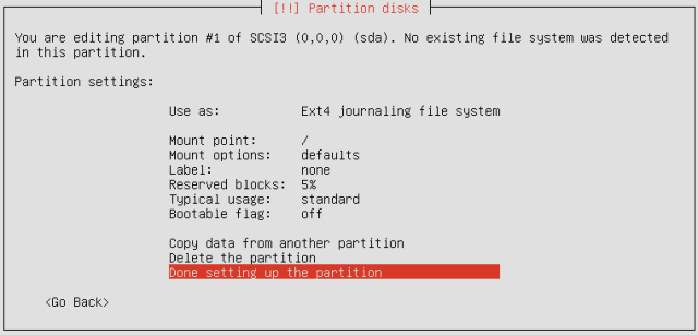 Ubuntu Partition Disk