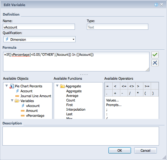 BusinessObjects WebIntelligence Variable