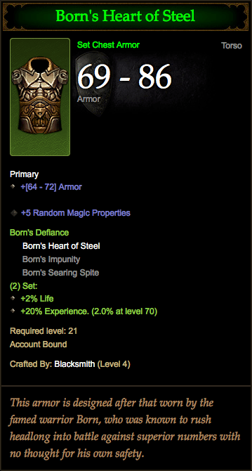 Diablo 3 Born's Heart of Steel
